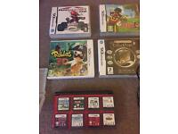 3DS XL with 12 games, 3 pronged charger and case