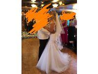 Stunning Bridal dress, tiara, veil and underskirt paid £2500