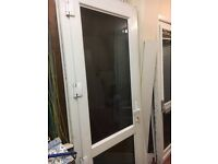 UPVC door with frame, in ex, cond, can deliver
