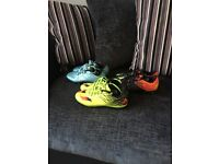 Kids messi football boots sizes 13 and 1.