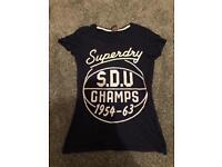 Ladies women's Superdry tshirt size small