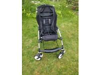Bugaboo Bee -black pushchair, vgc,