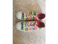 colourful dotted all star converse womens size 5