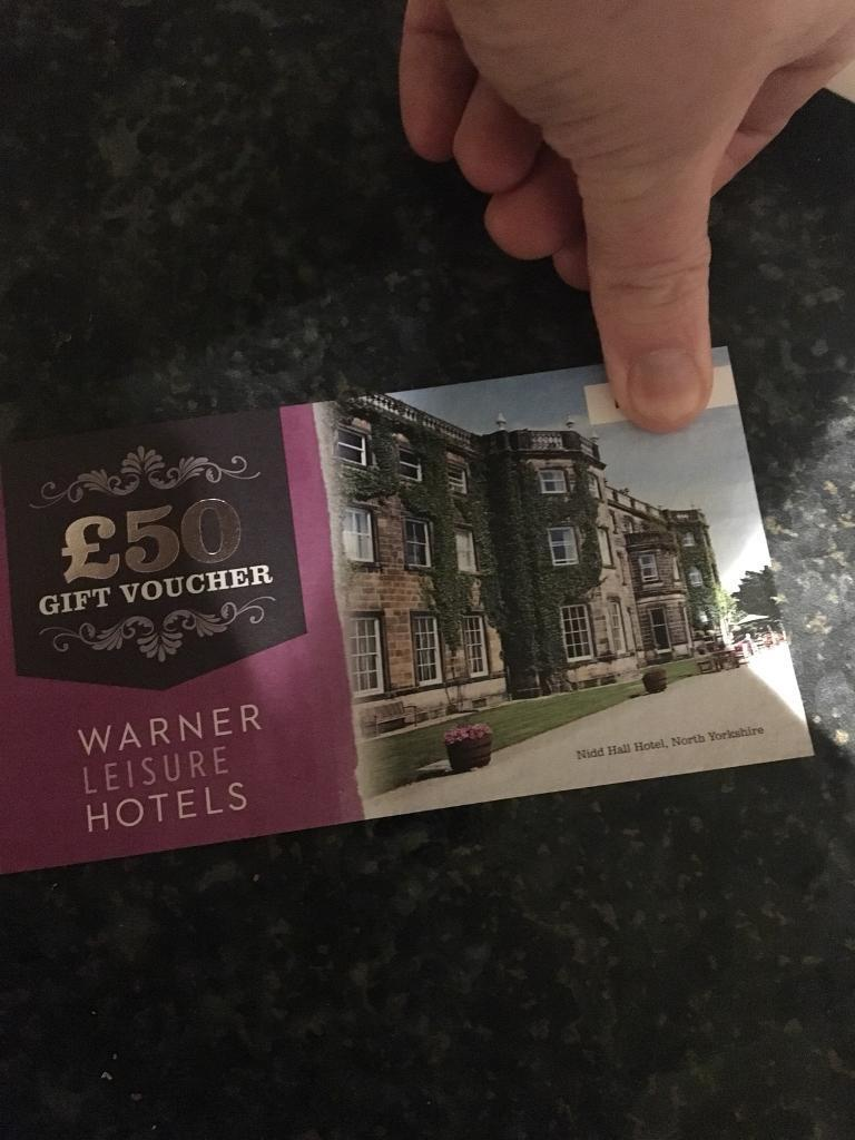 Warner leisure hotel vouchers