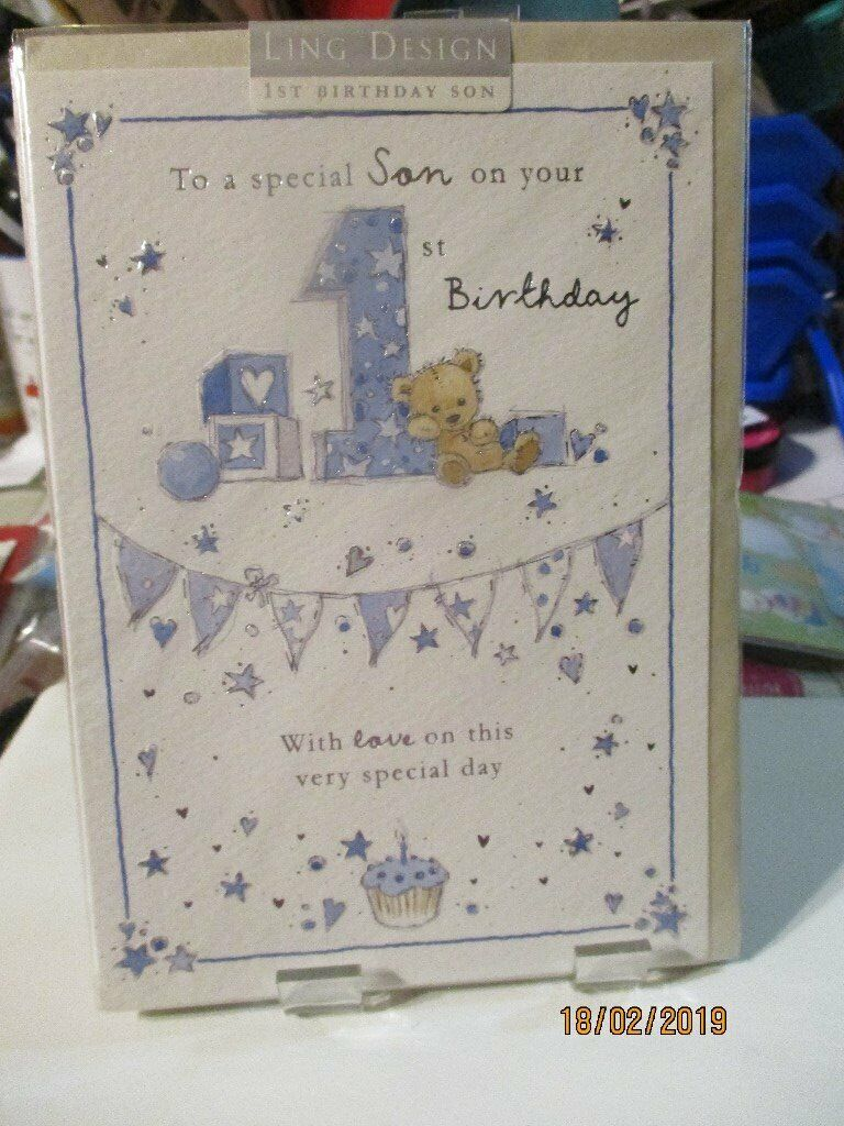 To A Special Son On Your 1st Birthday Card