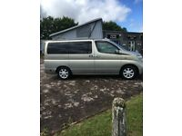 2004 NISSAN Elgrand CAMPER, V6 3.5, SIDE CONVERSION 2 years old, 4 BERTH/4 SEATS, LPG, AUTOMATIC