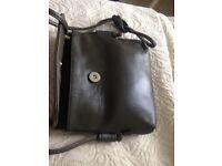 Designer Small Leather X-Body Bag