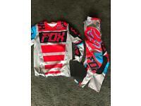 Men's fox racing motocross kit