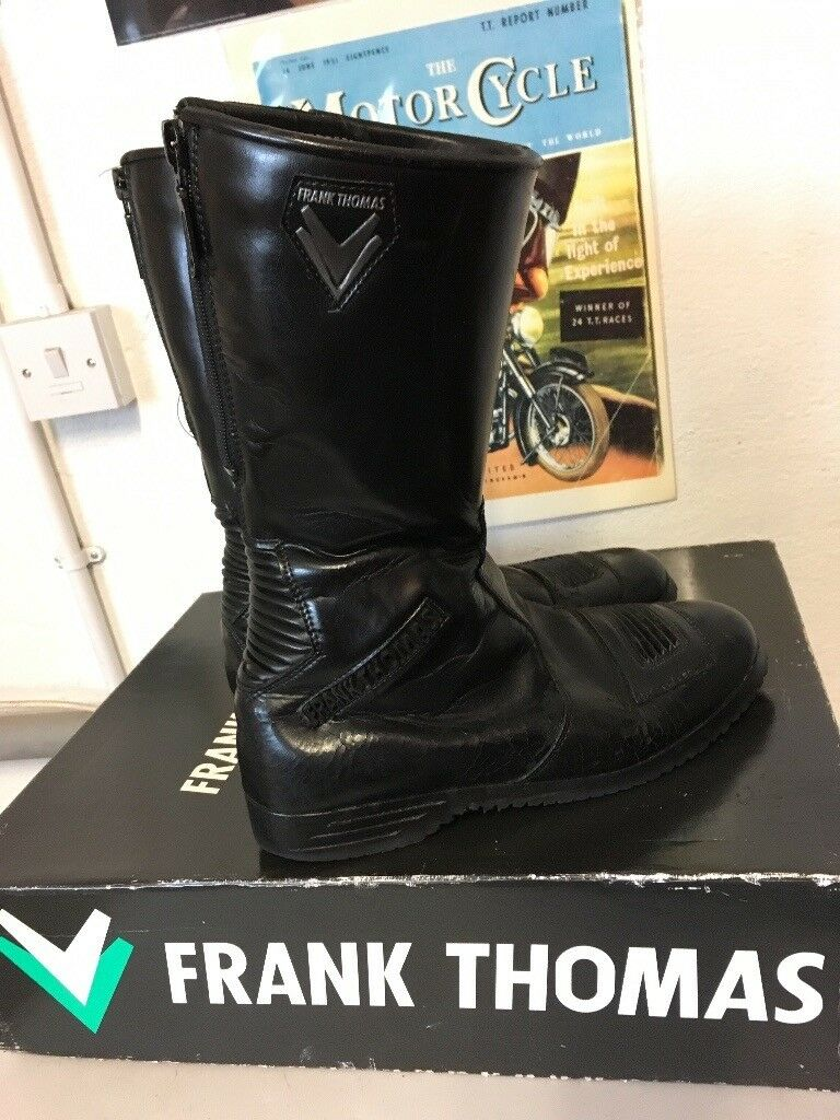 0b1734bd6ab *SOLD* Vintage Frank Thomas Motorcycle Boots Leather Black UK Size 9 Boxed  | in Carrickfergus, County Antrim | Gumtree