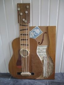 Guitar Wall Picture/Plaque/decorative art work/music room/tuition/teaching/music