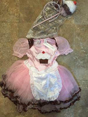Authentic Kids ~ Gorgeous Pink CUPCAKE ~ Halloween Costume ~ 4T ~ NWT