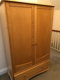 Solid wood wardrobe (Oak, I think)