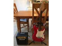 Commodore Guitar, Marshall Amp, Stagg Stand and a Hard Case