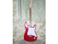 Squier guitar and amplifier