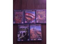 Ps2 games x5 like new