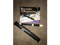 Brand new recorder and book