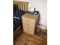 Bedside table (single) with 4 drawers
