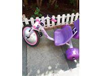 Ozbozz girls Lightening hog trike. Front wheel and seat lights up.