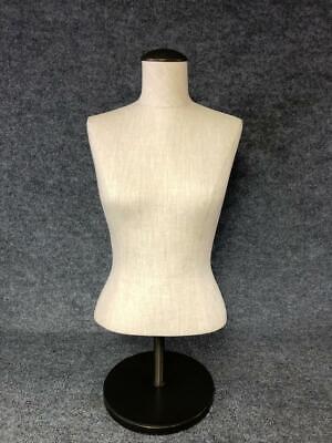 Tabletop Female Full Form Torso Dress Form Display Height Adjustable Mannequin