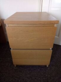 IKEA Chest of 2 drawers MALM - bedside table