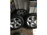 4 Bmw wheels and tyres to fit 3 series run flat in good condition