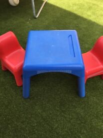 Elc Plastic table and chairs