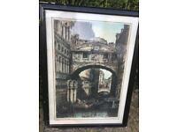 Framed Gustave Doré Bridge of Sighs - Venice antique