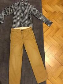 Abercrombie chinos and shirt - aged 10