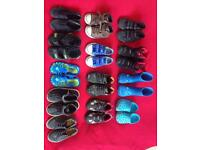 13 pairs of boys shoes, boots, Clarks,Ecco, Zara, size 24,25,26,27 , UK 6,7,8,9
