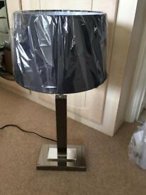 Large table lamp and shade