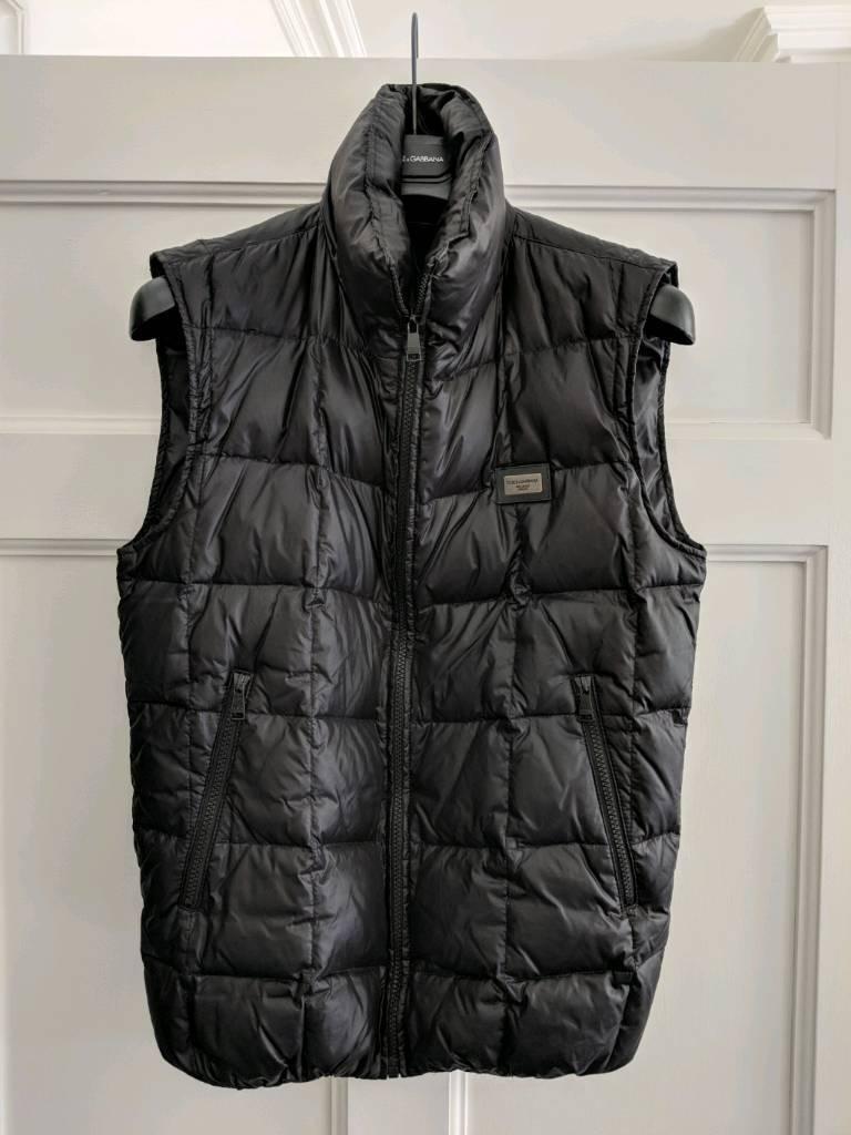 ac3cf772482 Dolce & Gabbana Quilted Gilet Down Jacket Body Warmer Mens IT46 UK36 Medium  Black