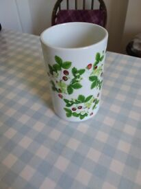 "Portmerion ""summer strawberries"" storage jar / cylindrical vase"