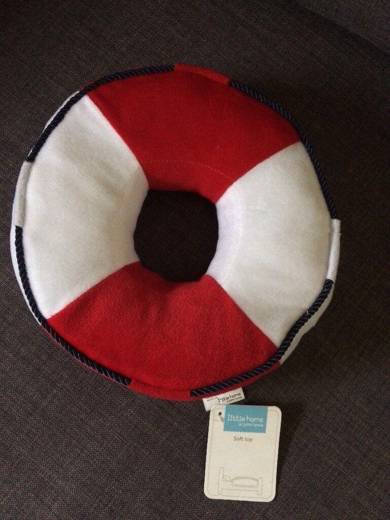 John Lewis Lifesaver cushion soft toy