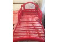 Red toddler bed for boy or girl