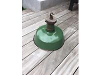 Vintage Industrial Metal Lamp Shade Green