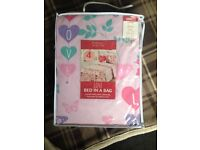 kids single bed in a bag set