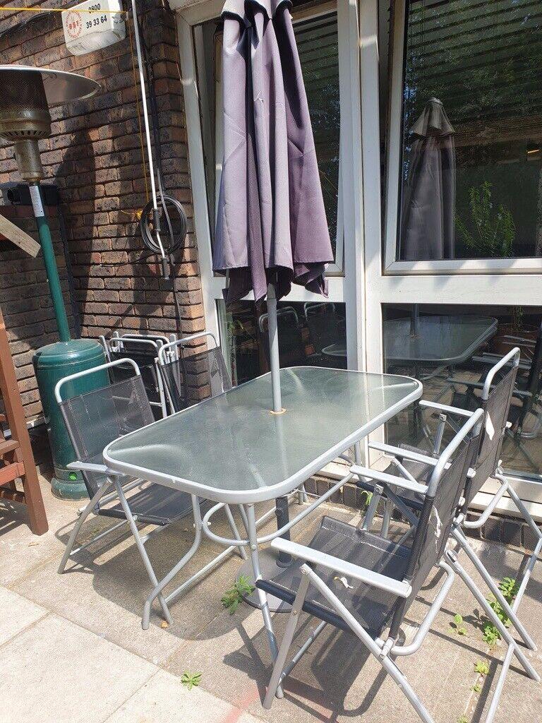 Silver Patio Furniture.4 Seater Patio Dining Set Black Silver Outdoor Furniture Garden Patio Set In Camden London Gumtree