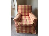Recently upholstered armchair - £35