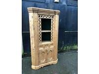 Beautiful Large Antique Pine Corner Dresser