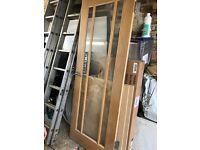 Oak and glass door