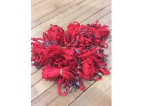 FREE - APPROX 200 X RED LANYARDS WITH SAFETY CLIP