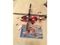 Lego City 7903 Rescue Helicopter Complete with Instructions