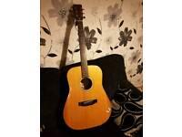 Accoustic fender guitar