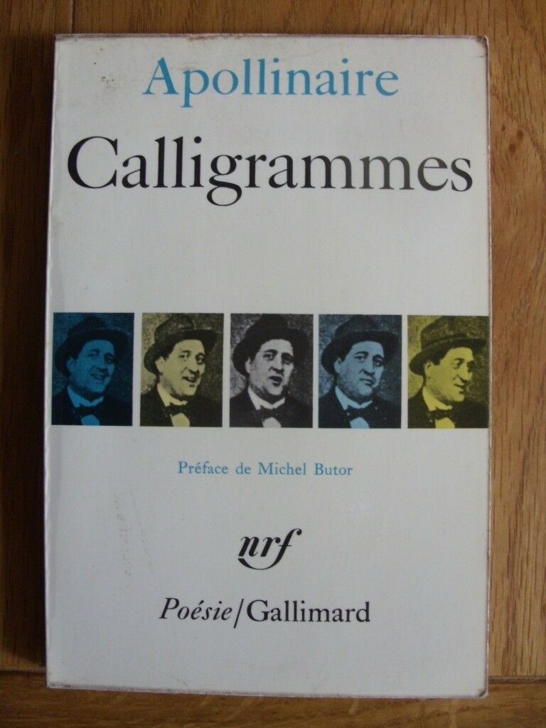 French language book - Calligrammes by Guillaume Apollinaire