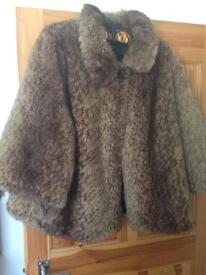 Redherring fur coat size 16