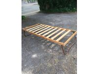 Strong fold able single bed frame