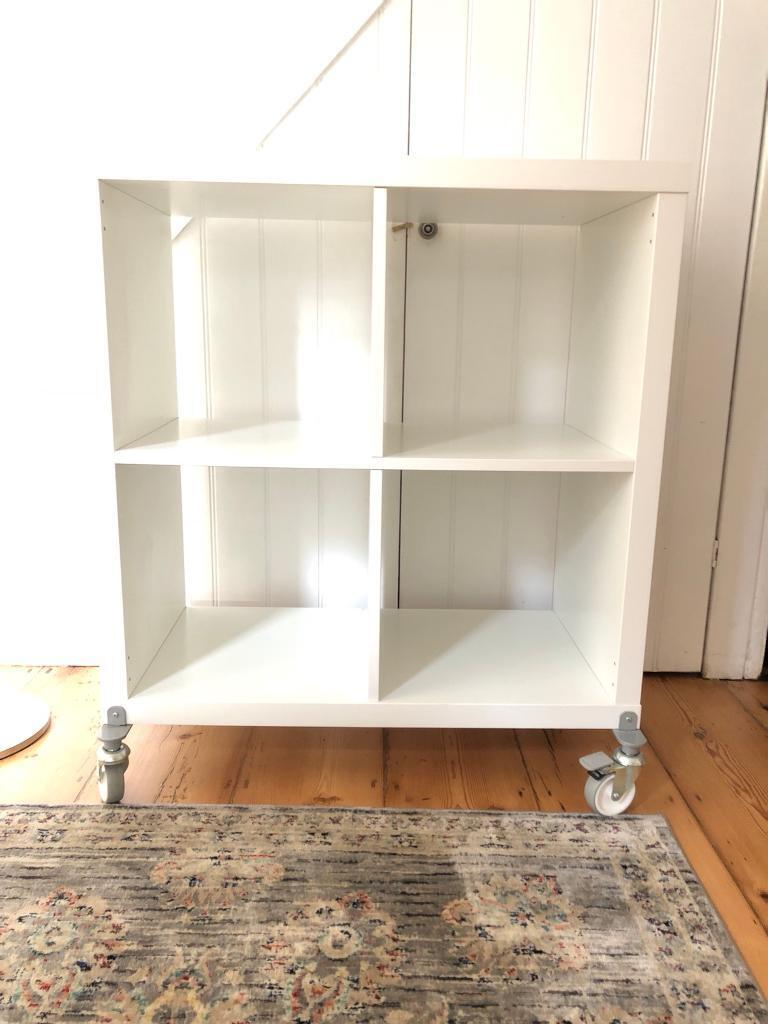 buy online f21c9 d9f2d Ikea white 4x4 kallax shelving unit with wheels | in Isleworth, London |  Gumtree