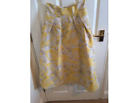 Coast skirt, floral yellow, size 10