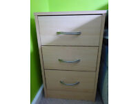 Bedside table 3 drawers
