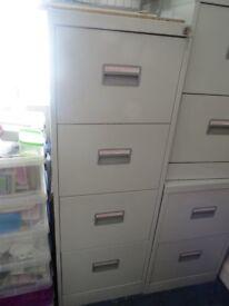 4 drawer metal filing cabinet - Grey